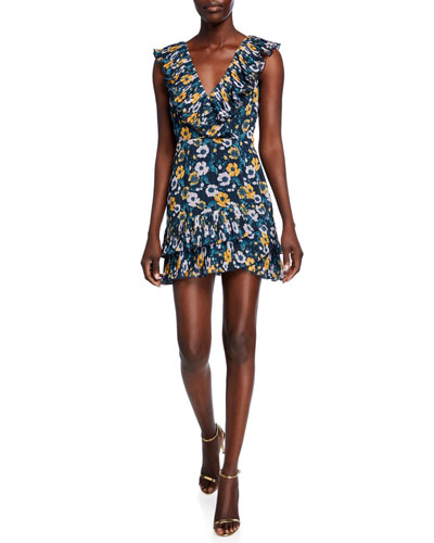 Light It Up Floral-Print Mini Dress