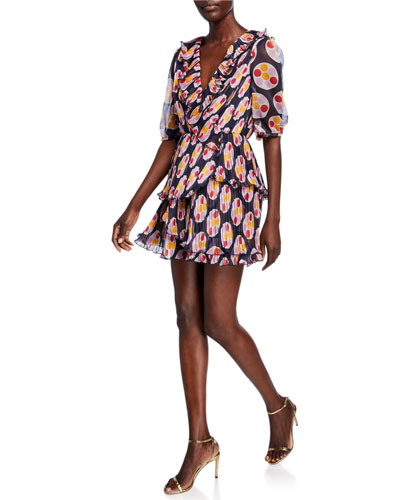 Bisous Printed Mini Dress
