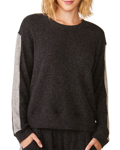Relaxed Side-Stripe Sweatshirt