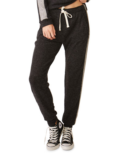 Girlfriend Side-Stripe Sweatpants