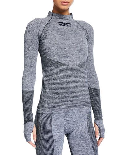 Seamless Long-Sleeve Textured Active Top