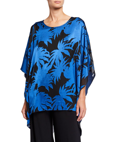 Caroline Rose Into The Blue Burnout Lined Caftan