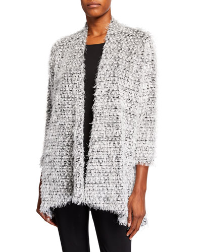 Snowball Fringe Side Fall Cardigan