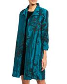 Caroline Rose Crinkle Rose Jacquard Topper Coat and