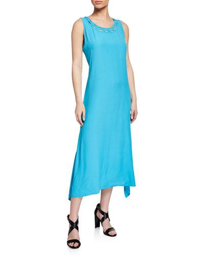 Keira Scoop-Neck Sleeveless Maxi Dress
