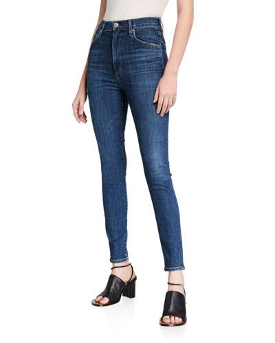 Chrissy Uber High-Rise Skinny Jeans