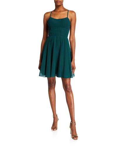 Strappy-Back Chiffon Dress