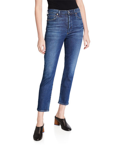 Olivia High-Rise Slim Ankle Jeans