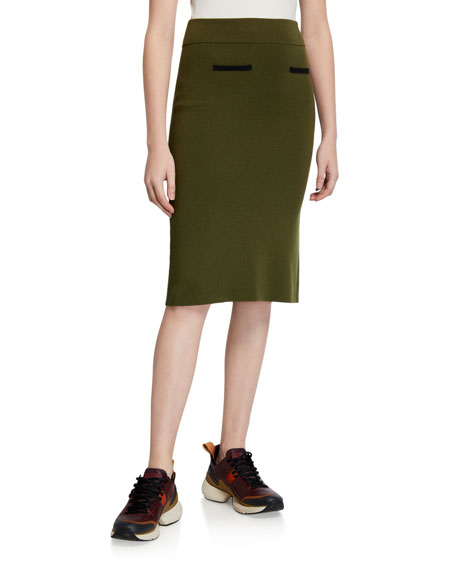 Victor Glemaud Knit Wool Pencil Skirt