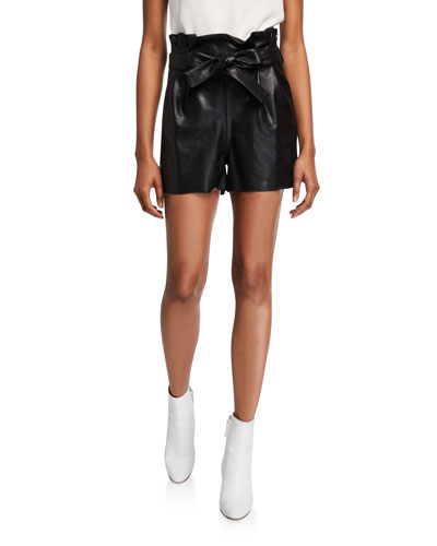 Tessi Faux Leather Paperbag Shorts