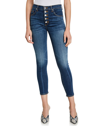 Debbie High-Rise Cropped Skinny Jeans