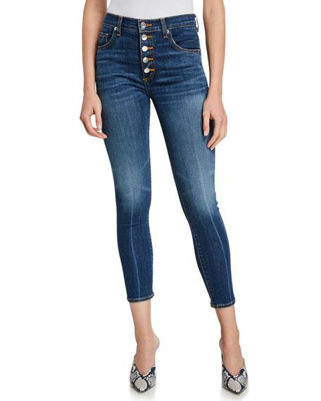 Veronica Beard Jeans Debbie High-Rise Cropped Skinny Jeans