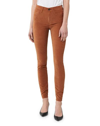 Kaia Skinny Over-Dye Velvet Jeans