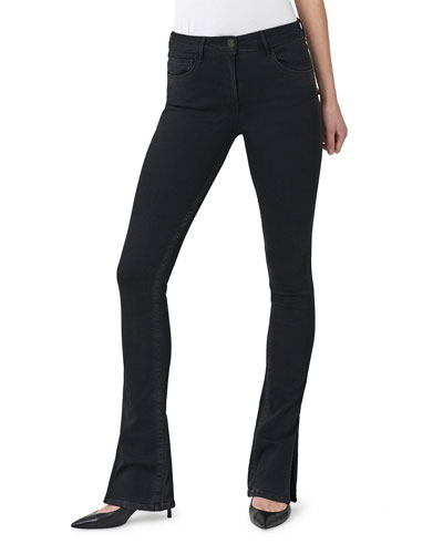 High Rise Split Seam Bell Jeans
