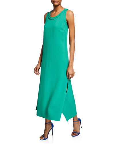 Keira Scoop-Neck Sleeveless Maxi Dress