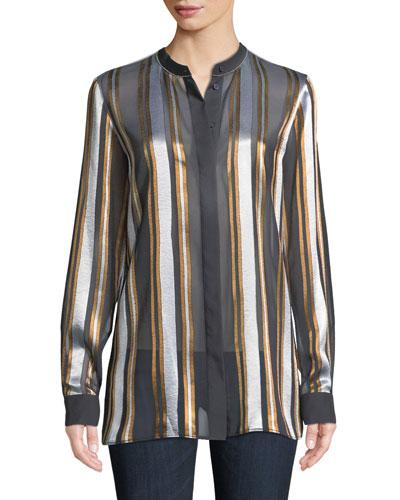 Brayden Ethereal Stripe Blouse