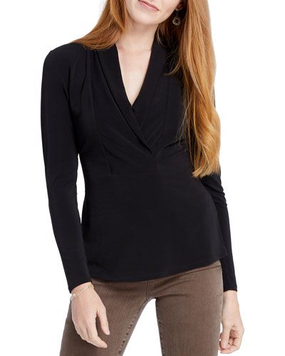 Petite Fundamental Long-Sleeve Top