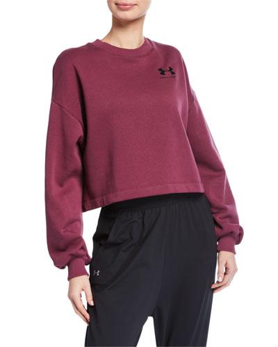 Rival Fleece Graphic LC Crewneck Sweatshirt, Purple