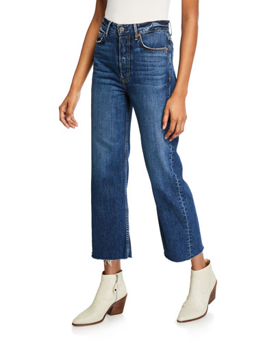 Bobbi High-Rise Cropped Wide-Leg Jeans