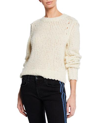Arizona Crew Boxy-Fit Wool Sweater