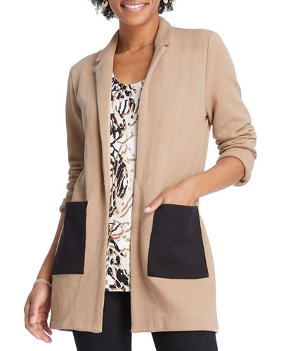 Plus Size Pocket Blazer