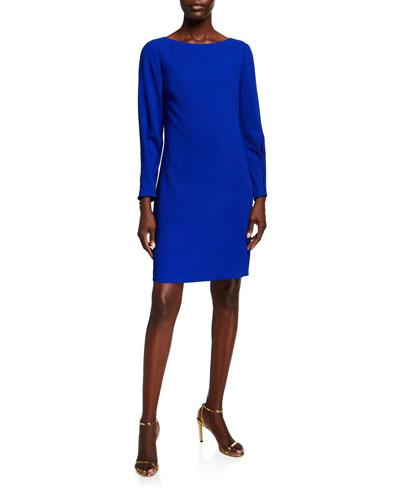 Calistoga Bateau-Neck Long-Sleeve Dress