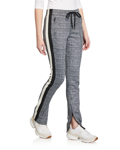 Glen Side-Stripe Cigarette Track Pants