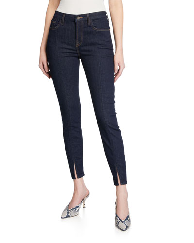 Ankle Skinny Jeans with Front Split