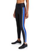PE Nation Jump Start Side-Stripe Active Leggings
