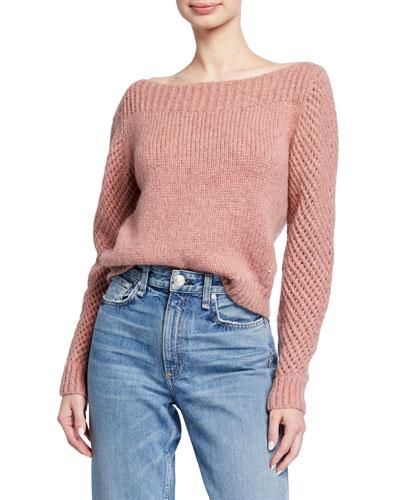 Rosie Boat-Neck Alpaca Sweater