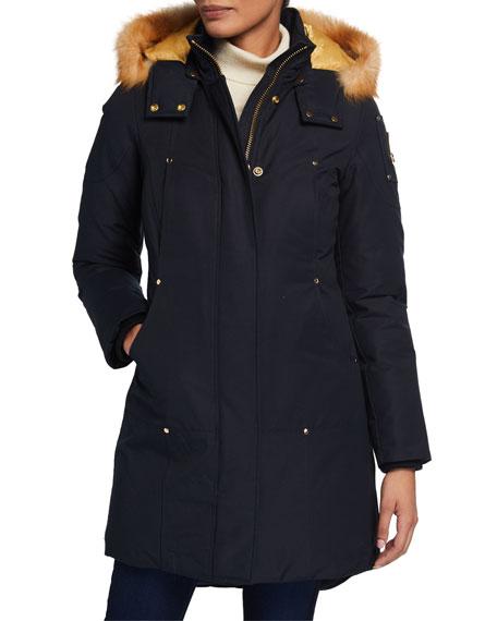 Moose Knuckles Grand Metis Fox Fur-Trim Parka w/ Detachable Hood