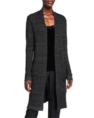 Plus Size Merino Wool Sparkle Long Cardigan