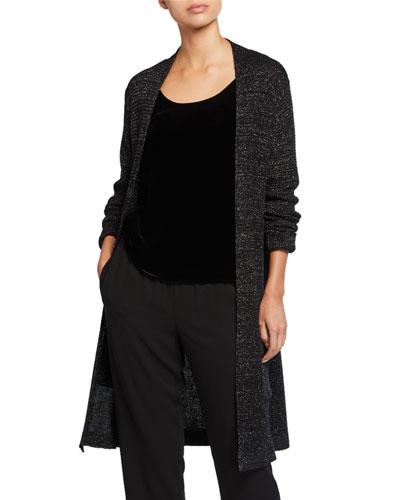 Merino Wool Sparkle Long Cardigan
