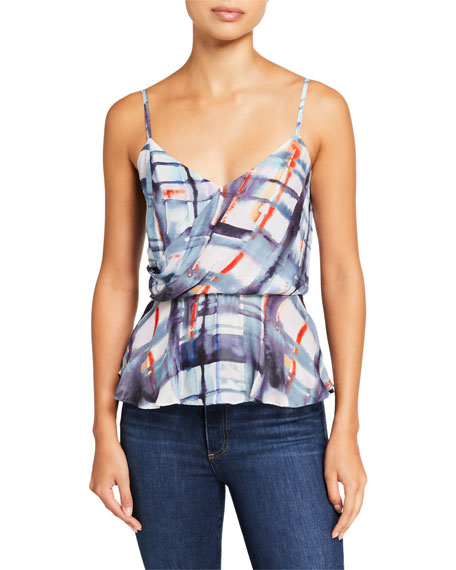 Parker Napa Printed Wrap-Front Top