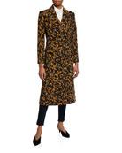 Diane von Furstenberg Elsa Leopard Double-Breasted Virgin Wool