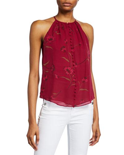 Galletha B Floral Silk Top