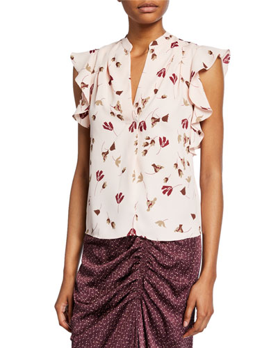 Ashtina Sleeveless Floral V-Neck Top