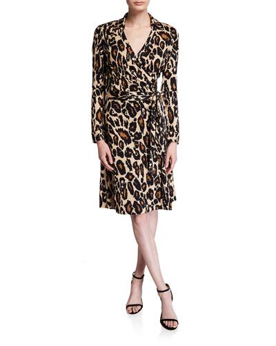 New Jeanne Two Leopard-Print Shirt Dress