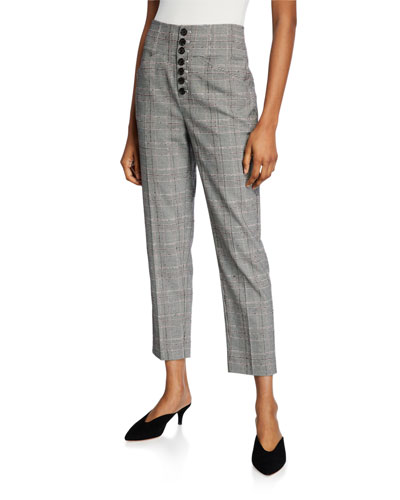 Abony Cropped Button-Front Pants