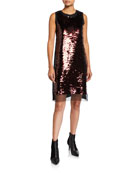 McQ Alexander McQueen Hybrid Sequined Tank Dress