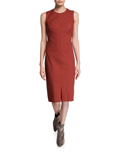 Elio Sleeveless Sheath Dress