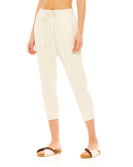 The Upside Leah Drawstring Cropped Track Pants