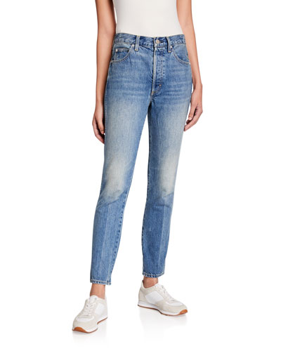 Lover High Rise Slim Straight Jeans