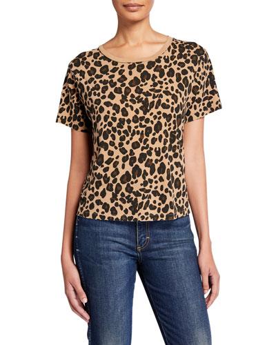 Leopard Short-Sleeve Cotton Tee