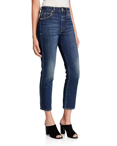 AMO Denim Chloe High Rise Ankle Crop Skinny Jeans
