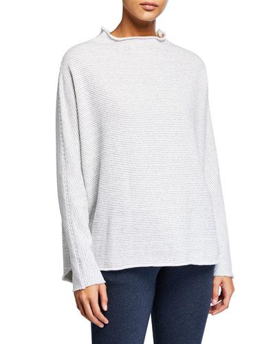 Funnel-Neck Fleece Sweatshirt