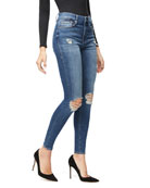Good American Good Waist Distressed Skinny Jeans -