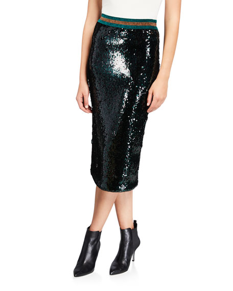 Le Superbe Liza Sequined Skirt