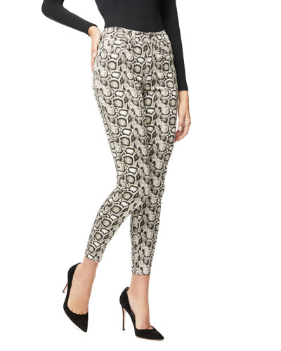 Good Legs Snake-Print Skinny Jeans - Inclusive Sizing