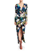 Le Superbe Les Chats Long-Sleeve Maxi Dress